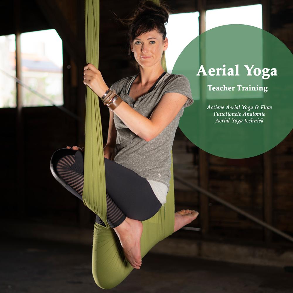 Aerial Yoga, Teacher Training, Aerial Yoga Actief & Flow, Functionele Anatomie, Aerial Yoga techniek